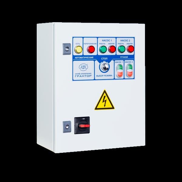 Шкафы управления 2 дренажными насосами, пуск электродвигателей от УПП